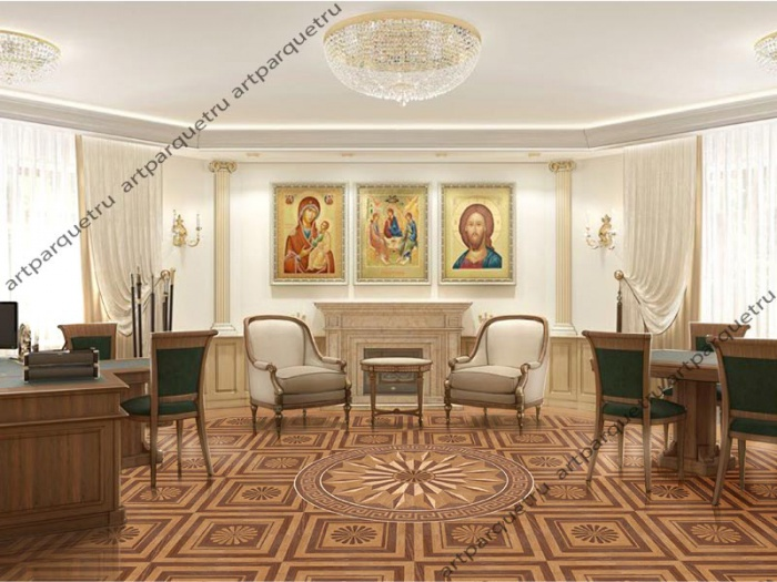 Parquet installed in the Minsk Diocesan Directory
