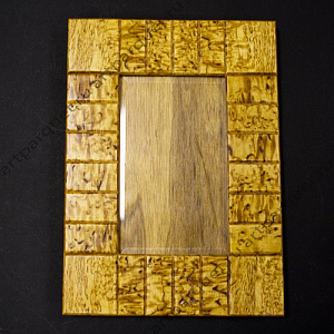 Picture frame from Karelian birch